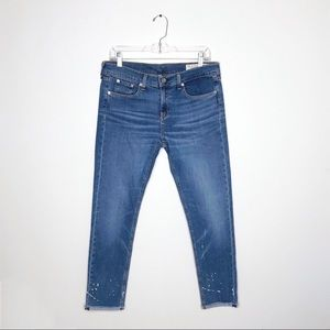 Rag & Bone Dre Capri Paint Splatter Jeans